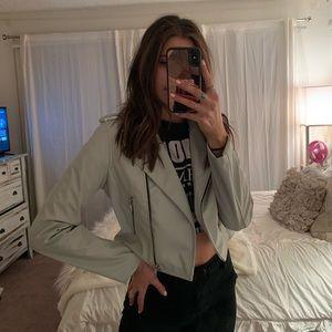 Light Grey Leather Jacket